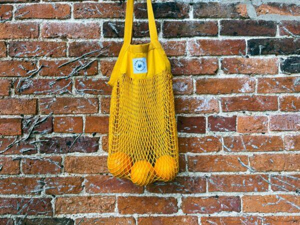 Organic mesh grocery bag - Red desert