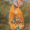 Organic mesh grocery bag - Ochre