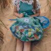 Organic mesh grocery bag - Sea foam